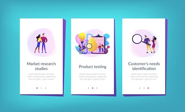 Producttest-app-interfacemalplaatje Premium Vector