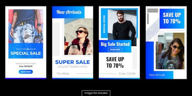 Productverkopende advertenties voor online zakelijke marketing Premium Vector