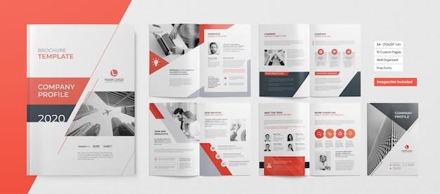 Professioneel boekje of zakelijke presentatie Premium Vector