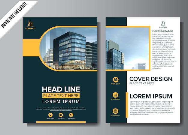 Professioneel flyer bedrijfsbrochureontwerp Premium Vector