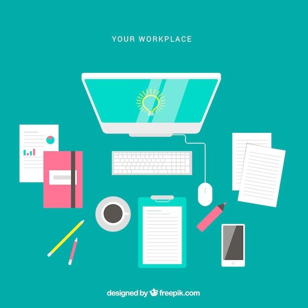 Design Kantoor Bureau.Professioneel Kantoor Bureau Met Vlak Design Vector Gratis Download