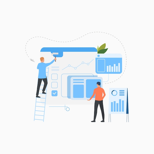Professioneel team maken van zakelijke oplossing platte pictogram Gratis Vector