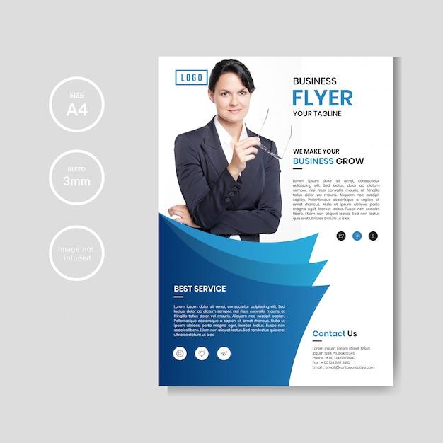 Professionele bedrijfsvlieger Premium Vector