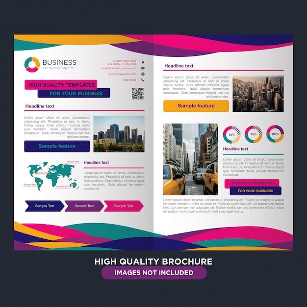 Professionele brochure voor multifunctionele bedrijven Gratis Vector