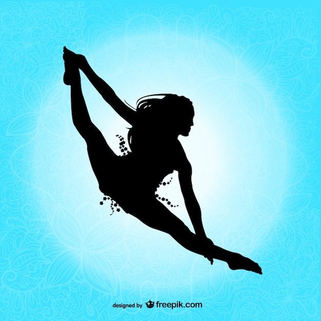 Professionele danser silhouet Gratis Vector