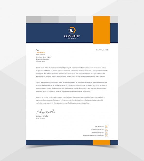 Professionele en moderne zakelijke briefpapier sjabloon Premium Vector