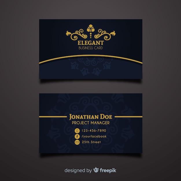 Professionele visitekaartjesjabloon in elegante stijl Gratis Vector