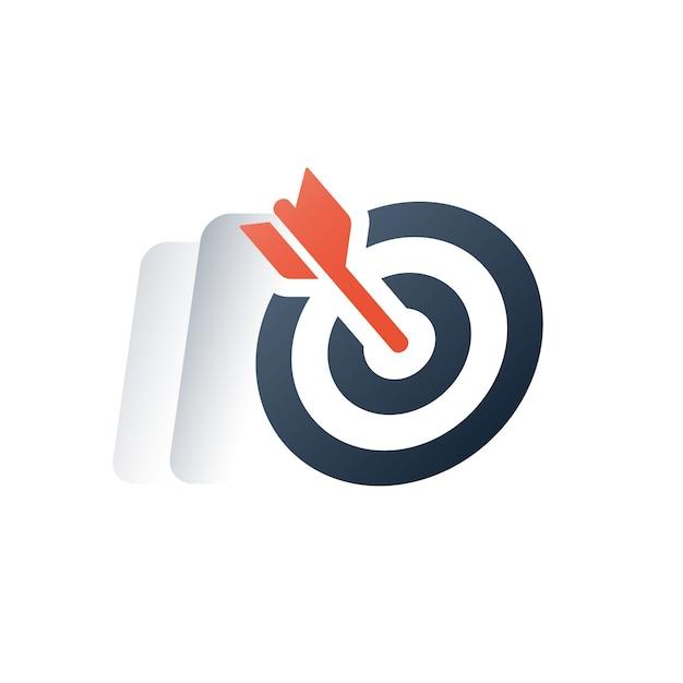 Projectmanagement, zakelijke en financiële oplossing, doelgroepmarketingstrategie Premium Vector