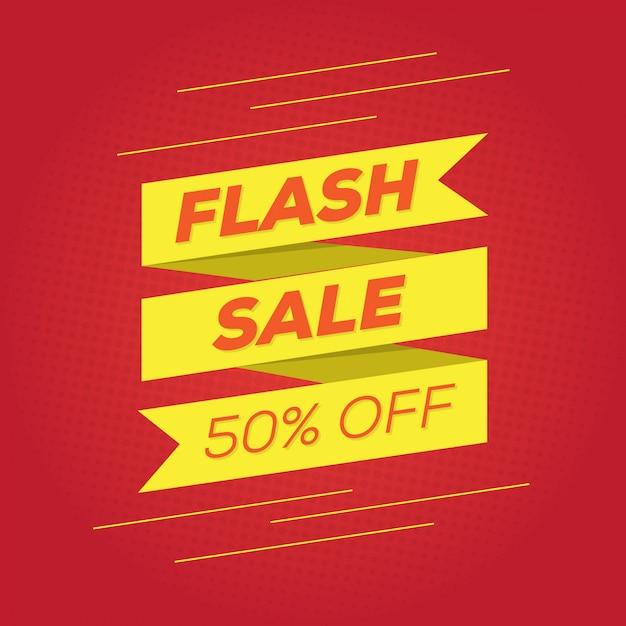 Promotie flash-verkoop voor sociale media-banner Premium Vector