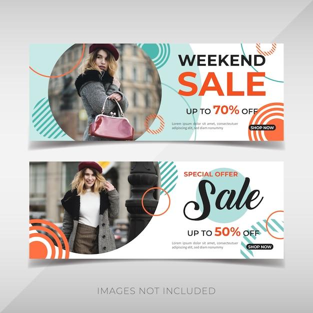 Promotie mode banners Premium Vector