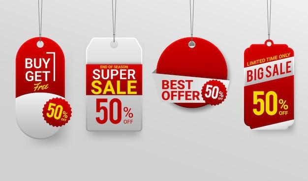Promotie sale labels beste aanbiedingen Gratis Vector