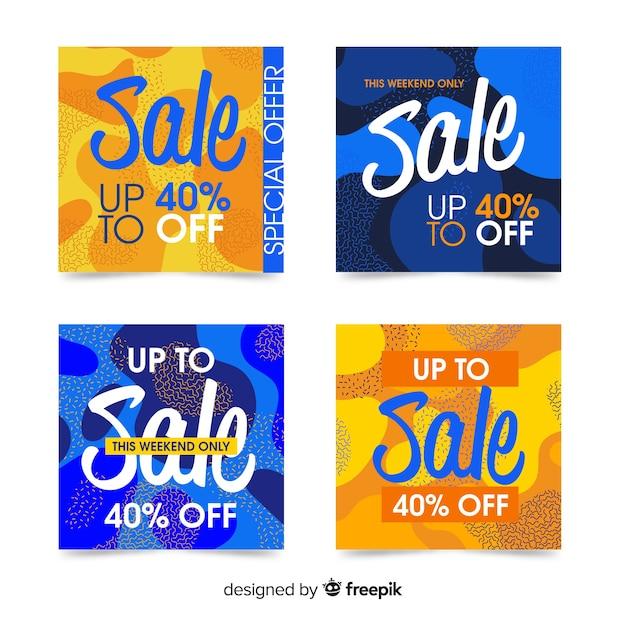 Promotiebanners voor verkoop voor sociale media Gratis Vector