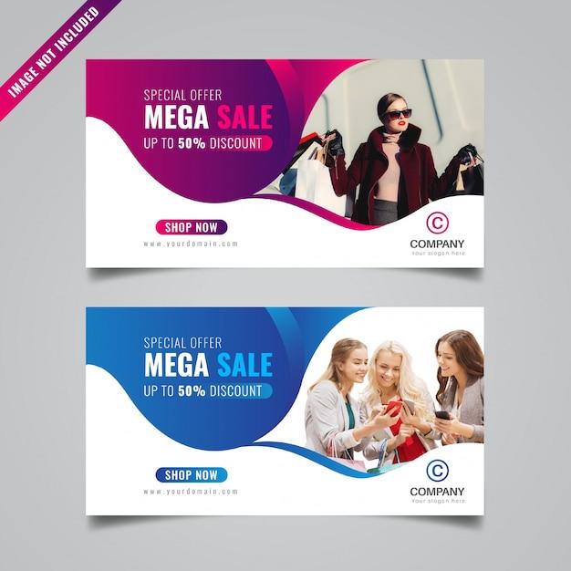 Promotionele verkoopbanner Premium Vector