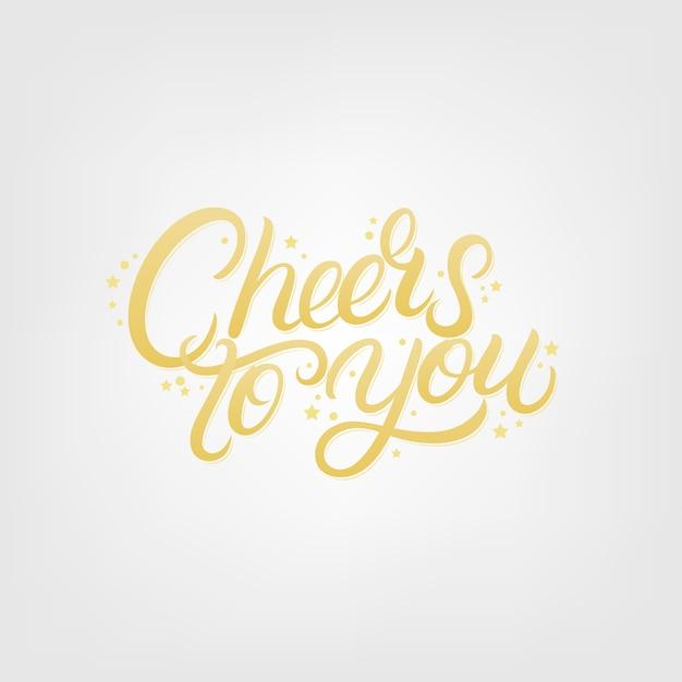 Proost op je handgeschreven letters. Premium Vector