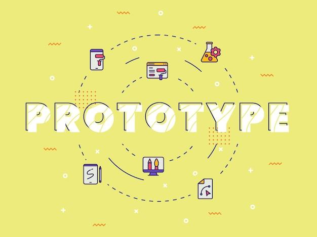 Prototype typografie kalligrafie woordkunst Premium Vector