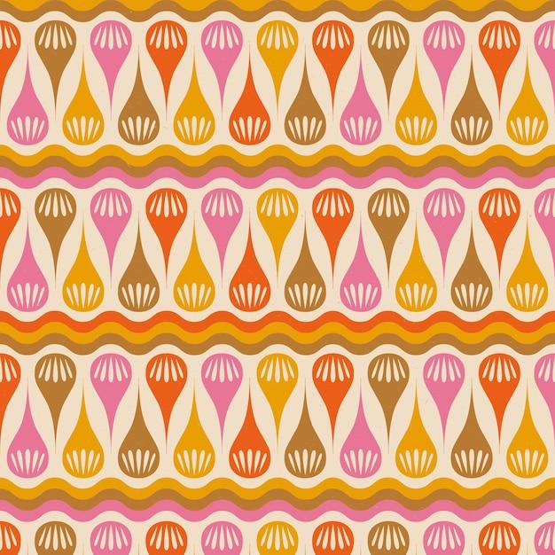 Psychedelisch hip geometrisch patroon Gratis Vector