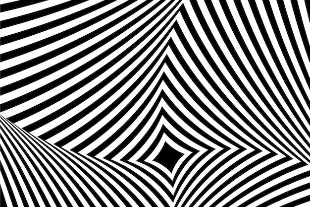 Psychedelische optische illusie achtergrondstijl Gratis Vector