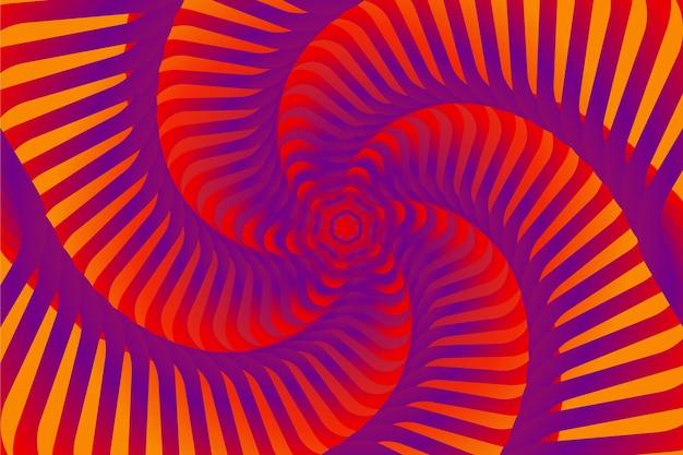Psychedelische optische illusie Gratis Vector