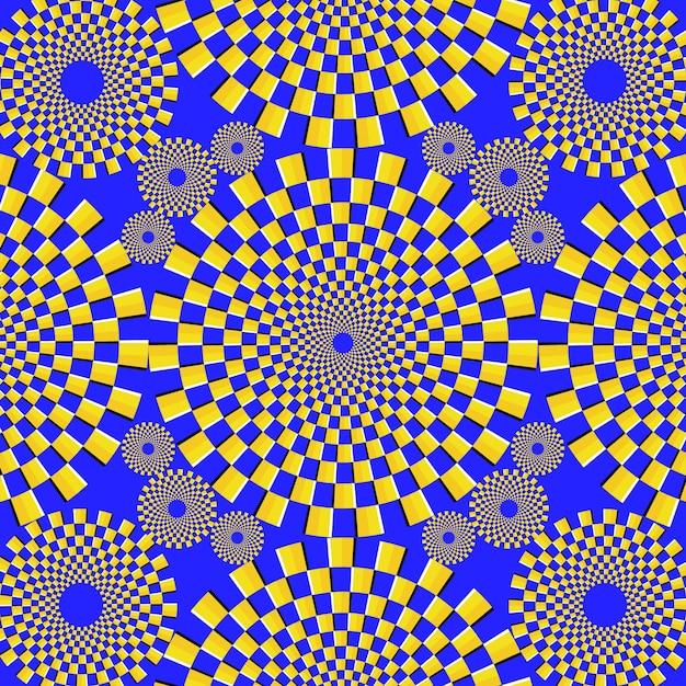 Psychedelische optische illusieachtergrond Gratis Vector