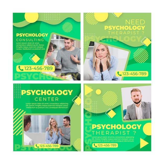 Psychologie instagram-postsjabloon Gratis Vector