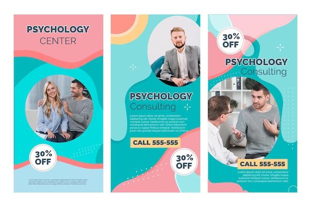 Psychologie instagram-verhalen Premium Vector