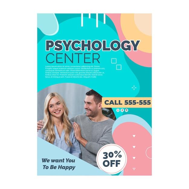 Psychologie poster sjabloon Gratis Vector