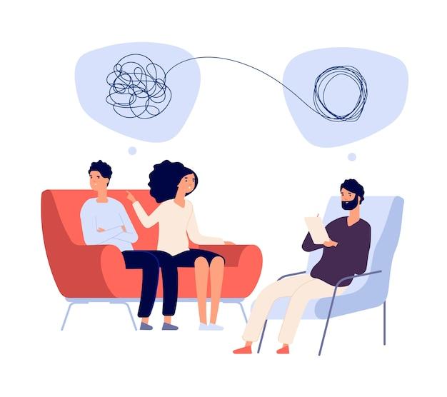 Psychotherapie concept Premium Vector