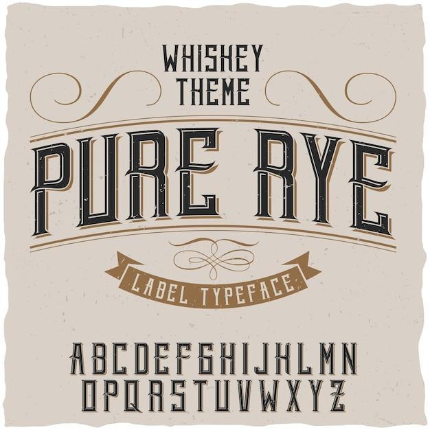 Pure rogge lettertype Gratis Vector