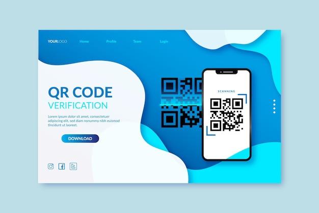 Qr code verificatie Premium Vector