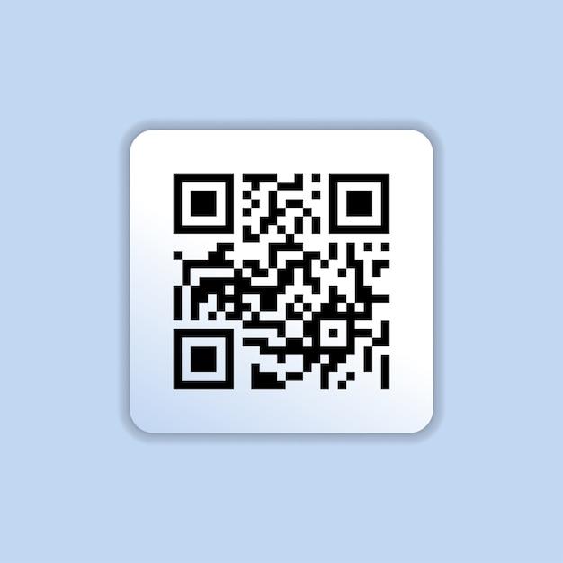 Qr-codepictogram in trendy vlakke stijl geïsoleerd Premium Vector