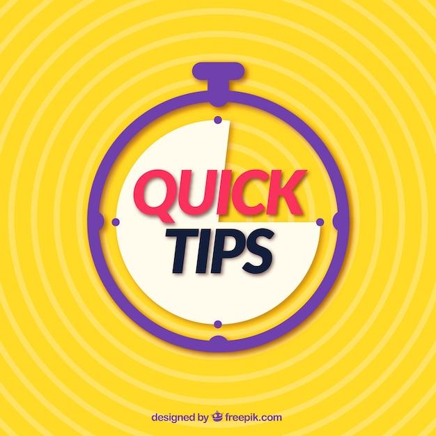 Quick tips-concept met een plat ontwerp Gratis Vector