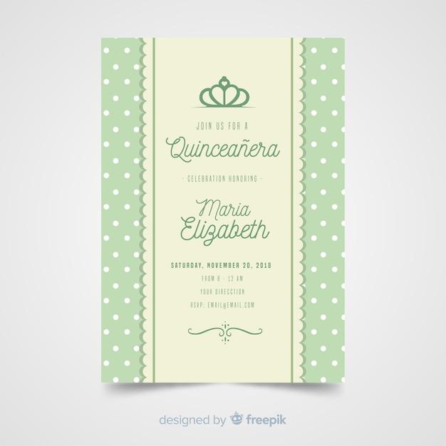 Quinceanera bar uitnodiging sjabloon Gratis Vector