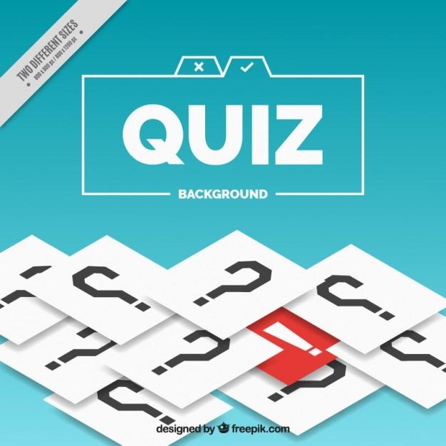 Quiz achtergrond met vraagtekens en rode detail Gratis Vector