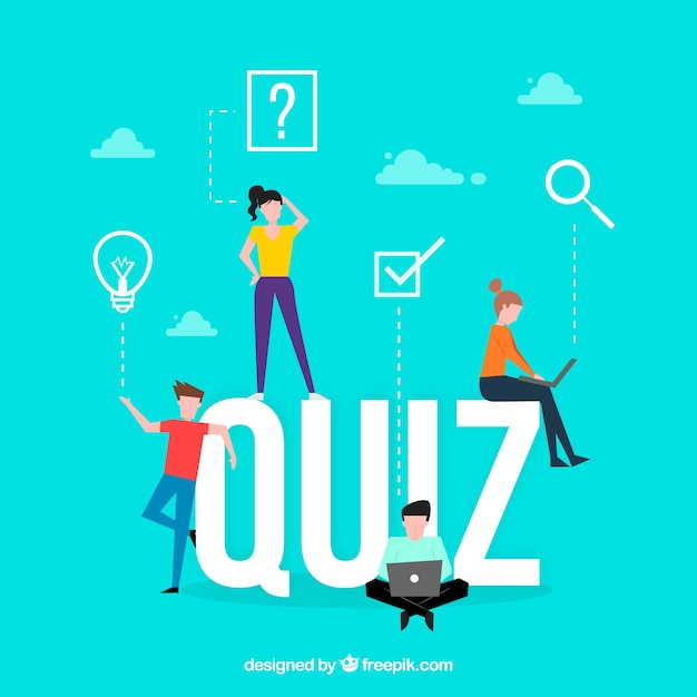 Quiz woord concept Gratis Vector