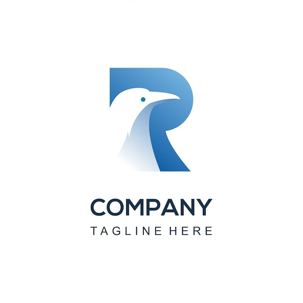 R ravenvogel logo Premium Vector