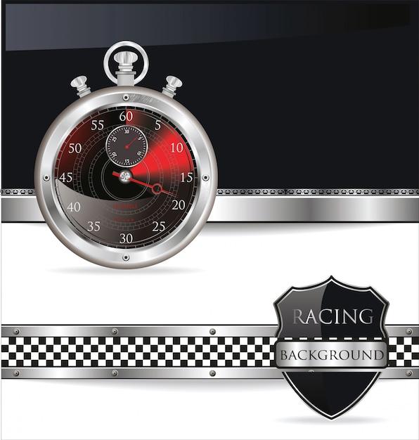 Race achtergrond Premium Vector