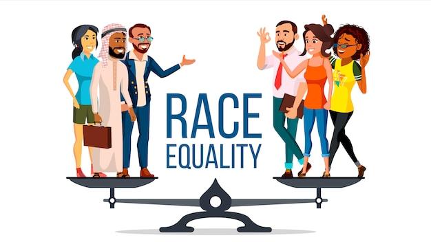 Race gelijkheid Premium Vector