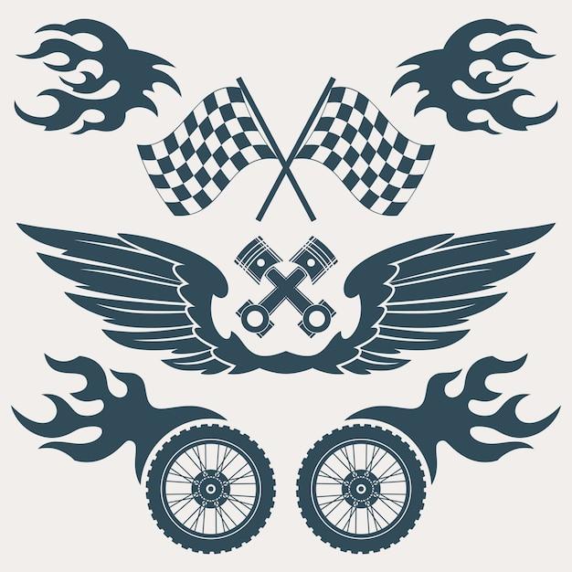 Race ontwerpt collectie Gratis Vector