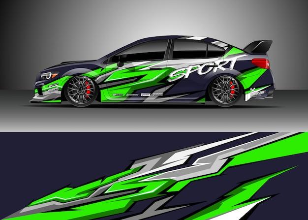 Raceauto voor rally Premium Vector