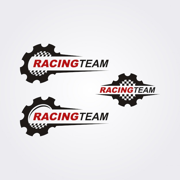 Raceteam logo collectie Premium Vector
