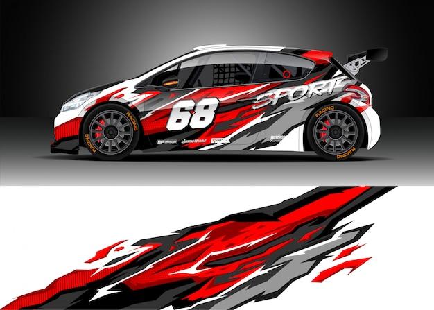 Racewagen voor rally Premium Vector