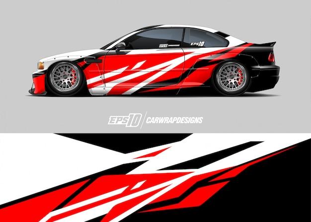 Racewagen wrap Premium Vector