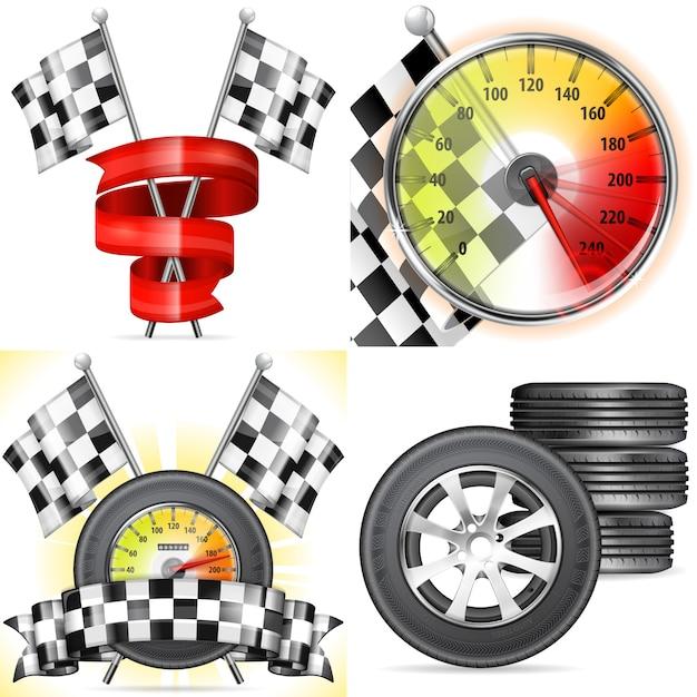 Racing concepten Premium Vector