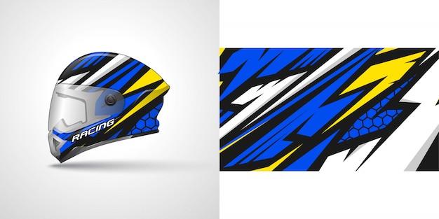 Racing helm wrap illustratie Premium Vector