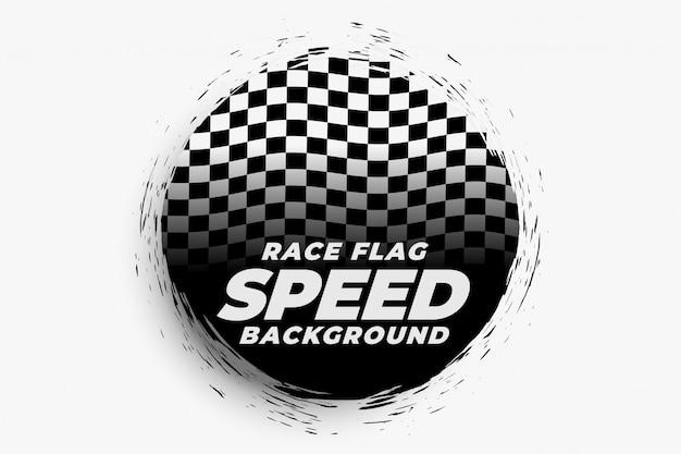 Racing snelheid achtergrond met geruite vlag Gratis Vector