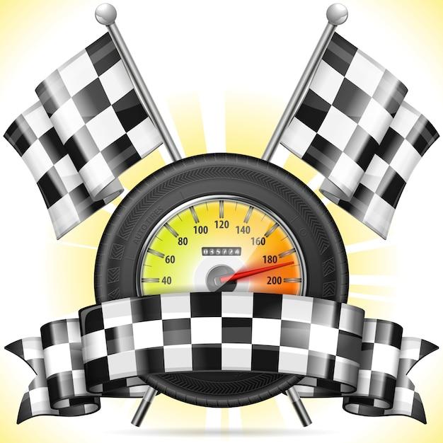 Racing Premium Vector