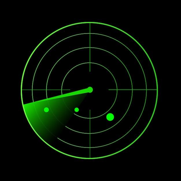 Radar vector Premium Vector