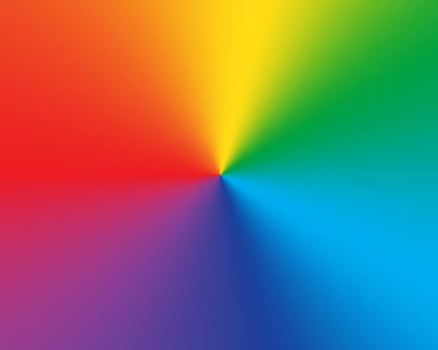 Radiaal verloop regenboog achtergrond Premium Vector