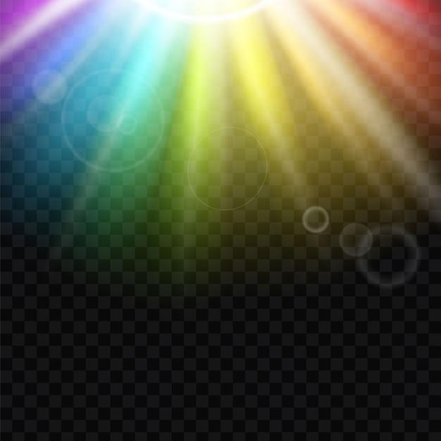 Rainbow glare spectrum achtergrond. Premium Vector