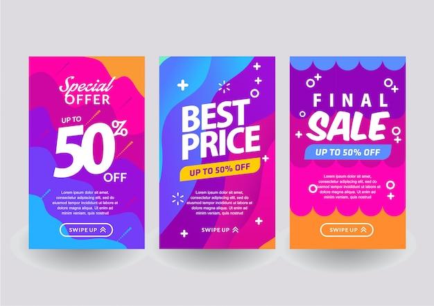 Rainbow verkoop sjabloon Premium Vector